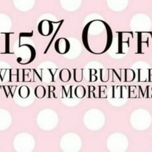 15% off when u bundle 2 or more items